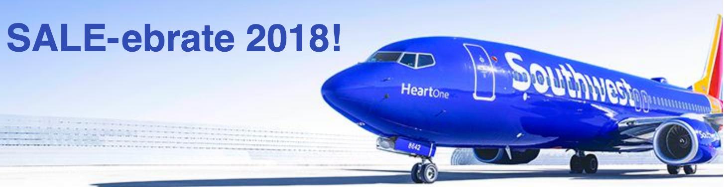 Southwest airline deals 2018